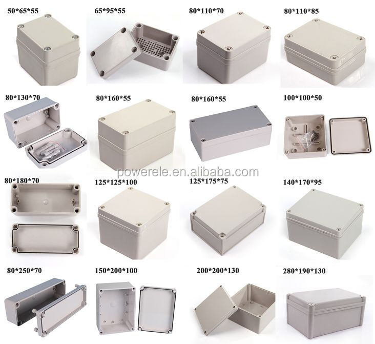 Good 80*110*70mm Ip66 Plastic Switch Box Plastic Box With The Best Service Connectors Lights & Lighting