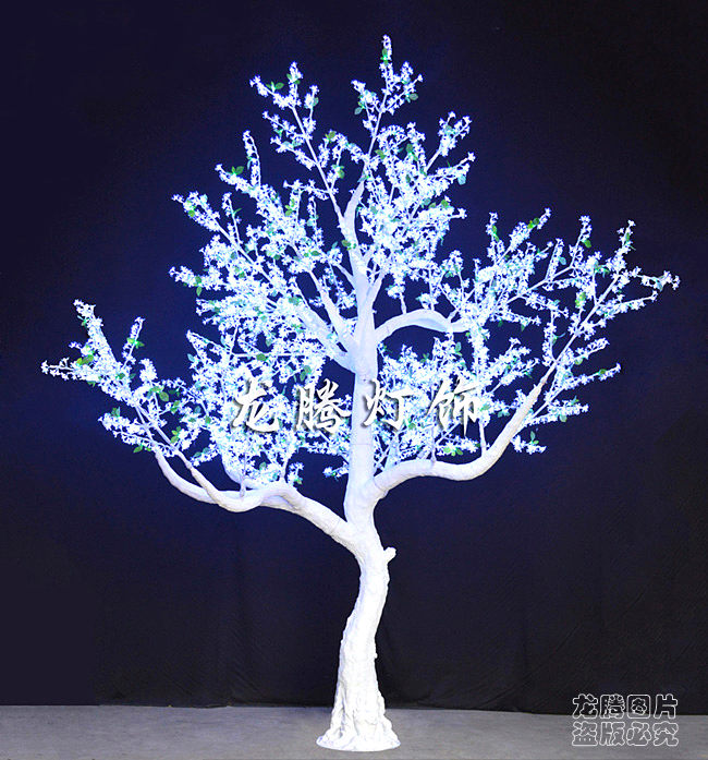 Beautiful Waterproof Acrylic Crystal White Outdoor Lighted Trees