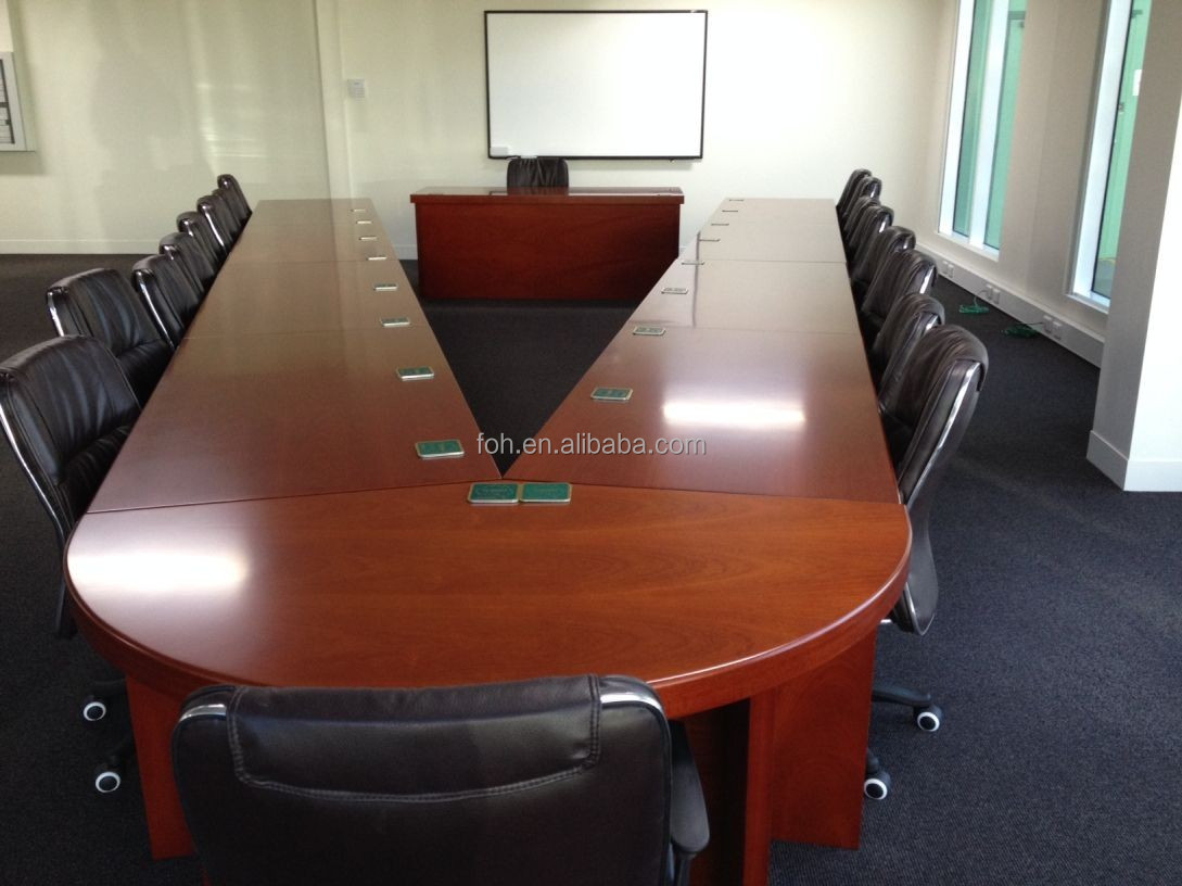 V Shaped Training Table Conference Room Furniture Fohvc