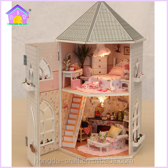Wholesale Doll House Diy Mini Wooden Toys House With Light And Furniture For Kids Buy Wooden