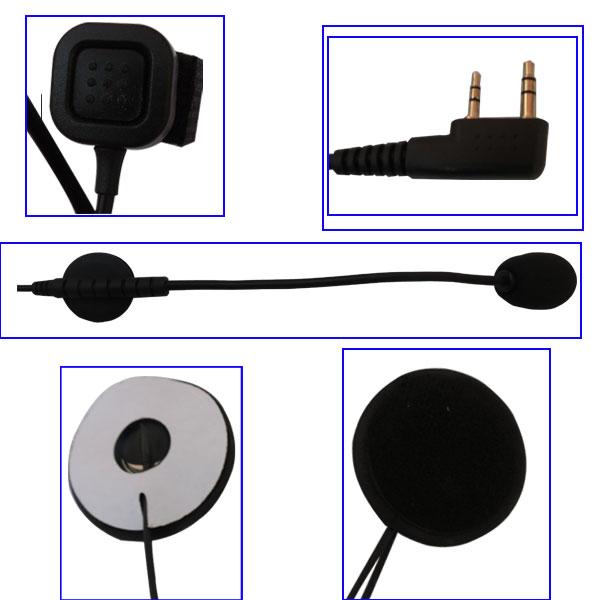 Motorcycle racing helmet headset for walkie talkie - ANKUX COM