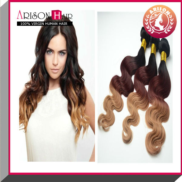Ombre Bundles 100 Remy Human Hair Extension Sew In Human Hair Weave