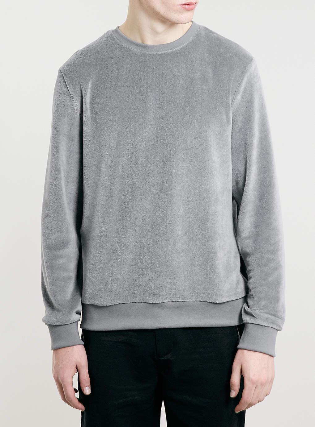 Mens Blank Crew Neck Custom Wholesale Velour Sweatshirt Hoodie For ...