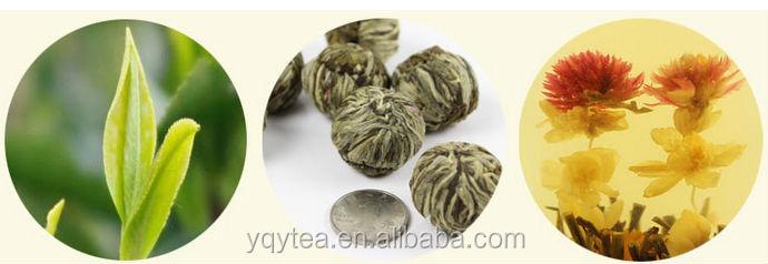Chinese xinxinxiangyin flower handicraft green tea blooming tea - 4uTea   4uTea.com