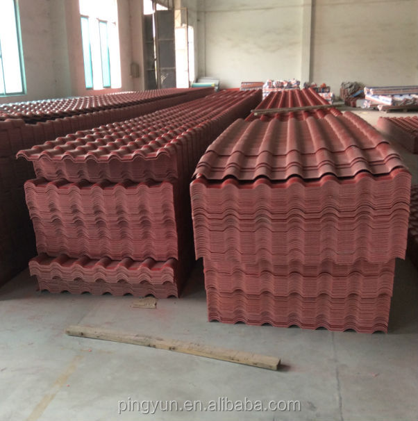 Synthetic Resin Roofing Tile Asa Spanish Roof Tile Asa