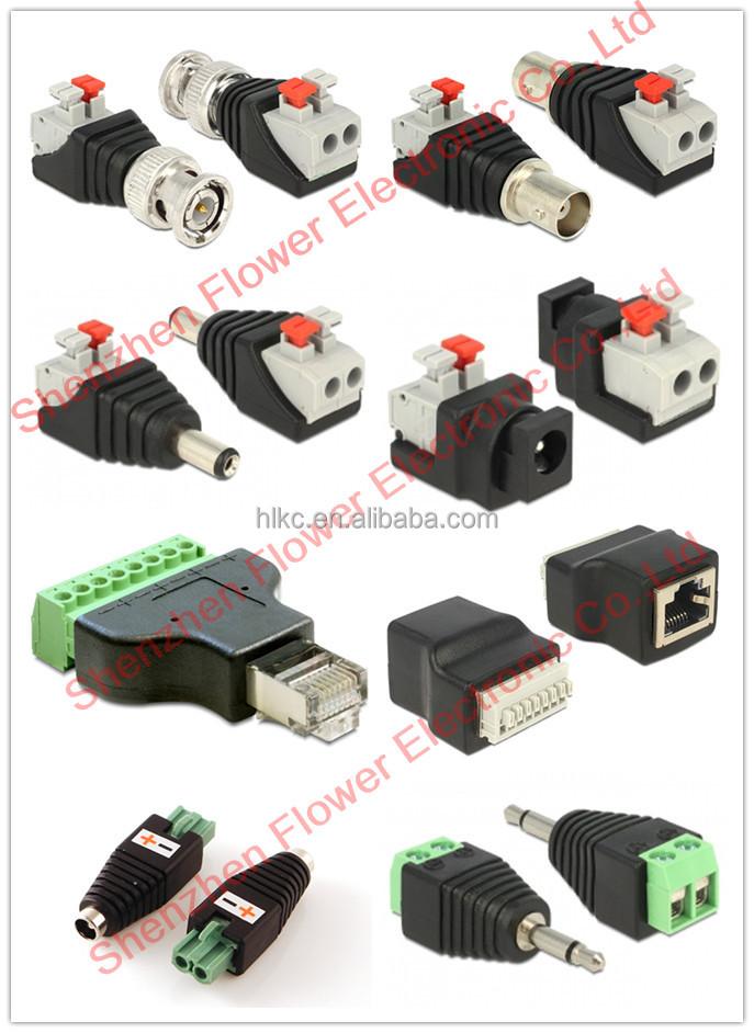 Rf Bnc To Rj45 Ethernet Converter For Cctv Video Media Bnc