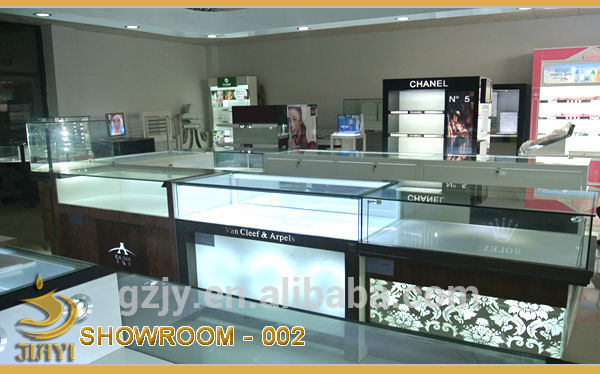 Fashion wood cosmetics counter display stand for shopping mall kiosk store  furniture