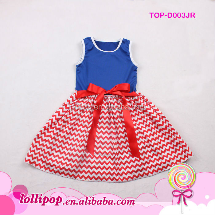8d76b30f9 Wholesale Baby Frock Design Pictures Red White Royal Blue Patriotic ...