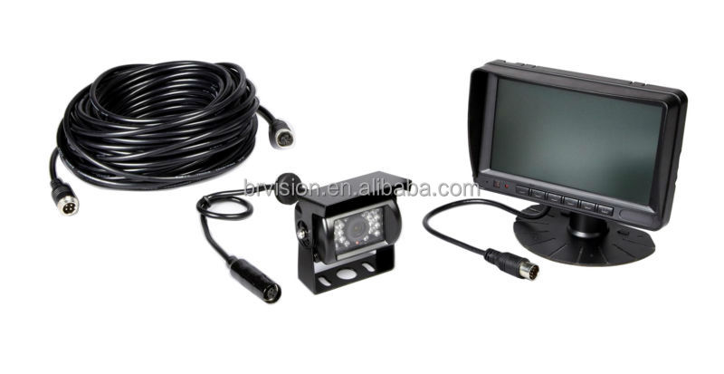 7 Inch Color LCD Quad Vehicle Camera System