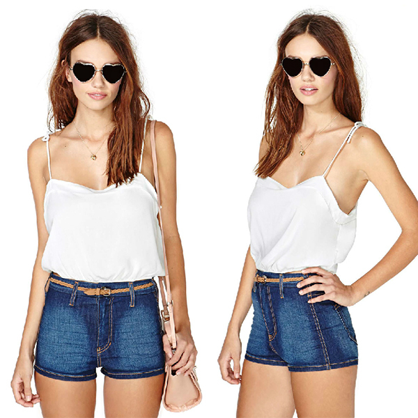4f10a1a58c50d Sexy Womens Spaghetti Strap Short Vest Tops Backless Casual Tank Top Shirt  White