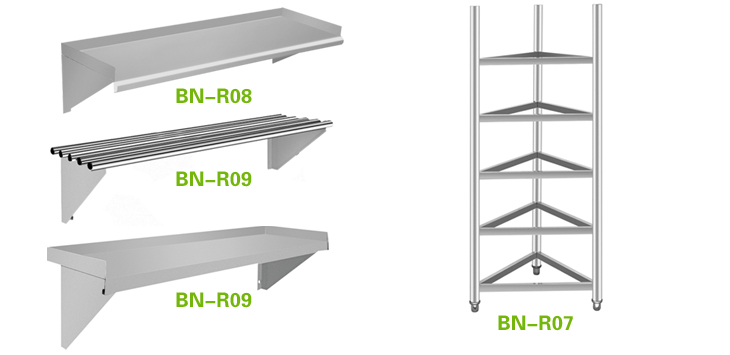 Restaurant Kitchen Racks knock-down stainless steel storage shelf rack / restaurant kitchen