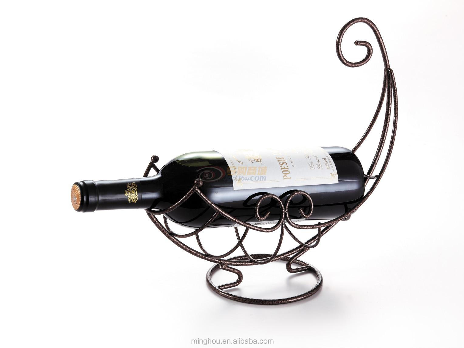 Unique nest metal wine bottle holder boat shape wine rack buy metal crafts wine bottle holder - Wire wine bottle carrier ...