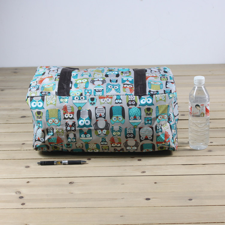 Reusable foldable oxford cloth polyester fabric zipper carrier bag