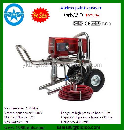 Semi Intelligent Electric Piston Pump Airless Paint Sprayer F2200 ...