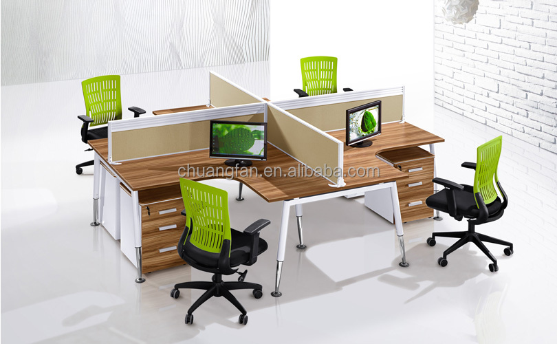 Cf d81607 l shape home office 2 person computer desk buy 2 person office desk desktop divider - L shaped desk for two people ...