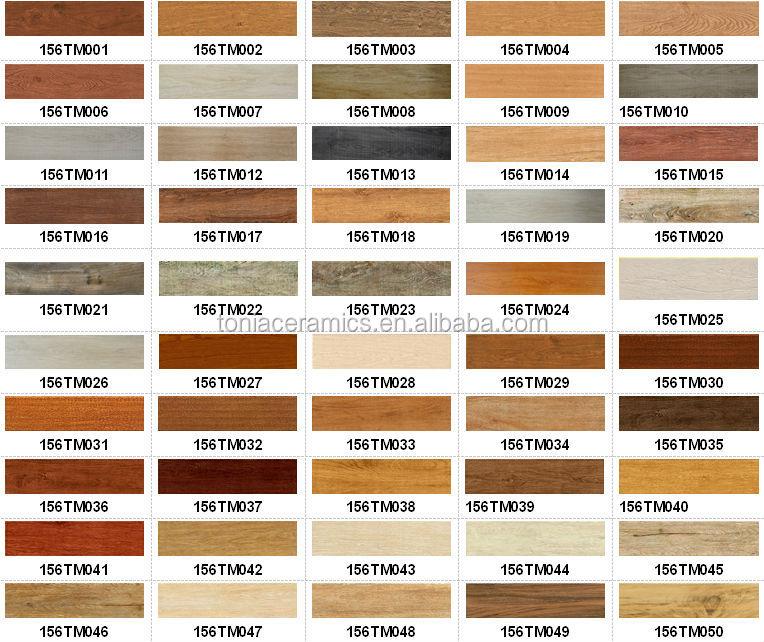 Matte Finish Texture Wooden Floor Tiles Standard Size