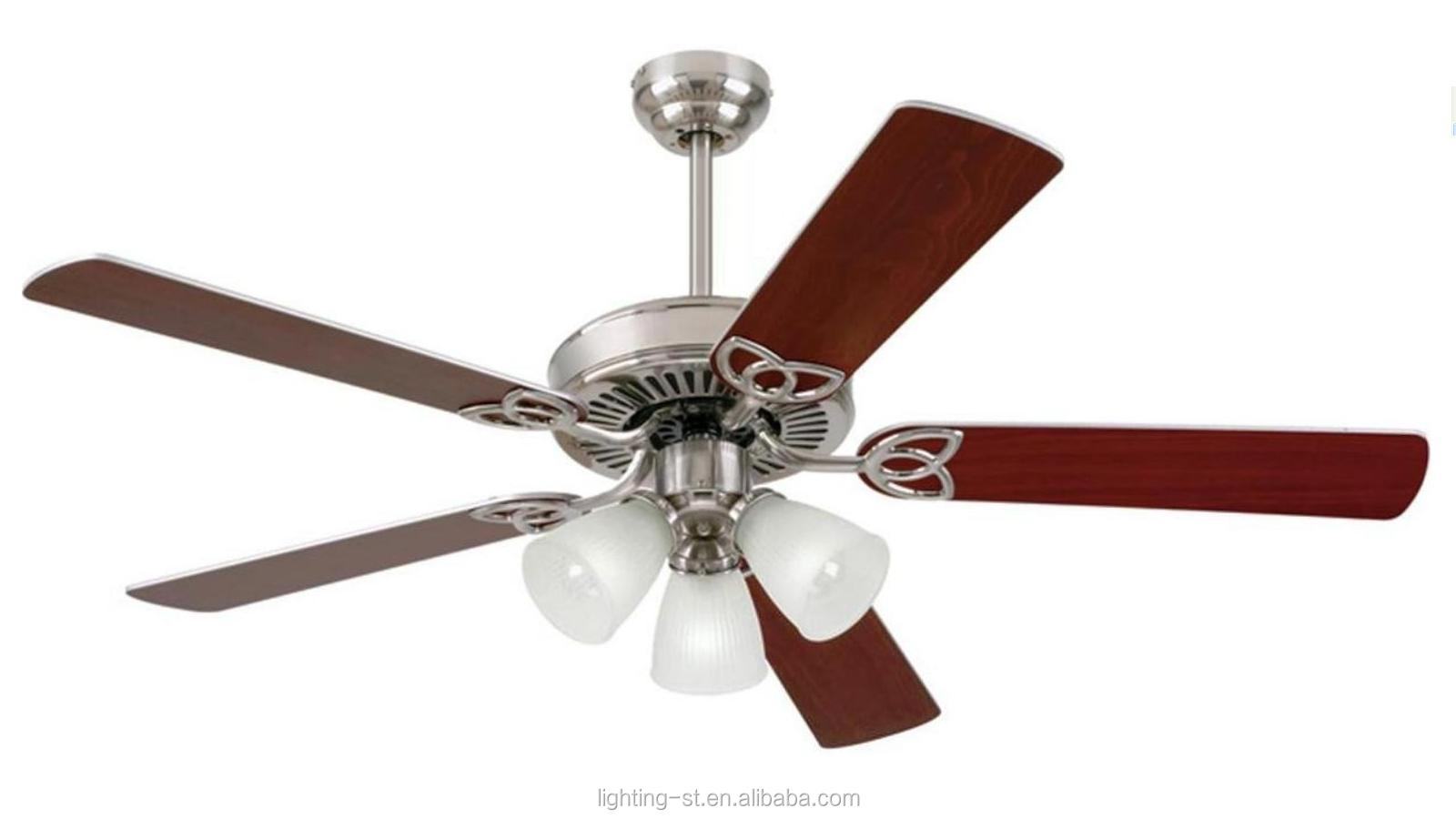 Hungter Buildder Plus 52-Inch Ceiling Fan with Five Brazilian Cherry/Harvest Mahogany Blades and Swirled frost Glass Light