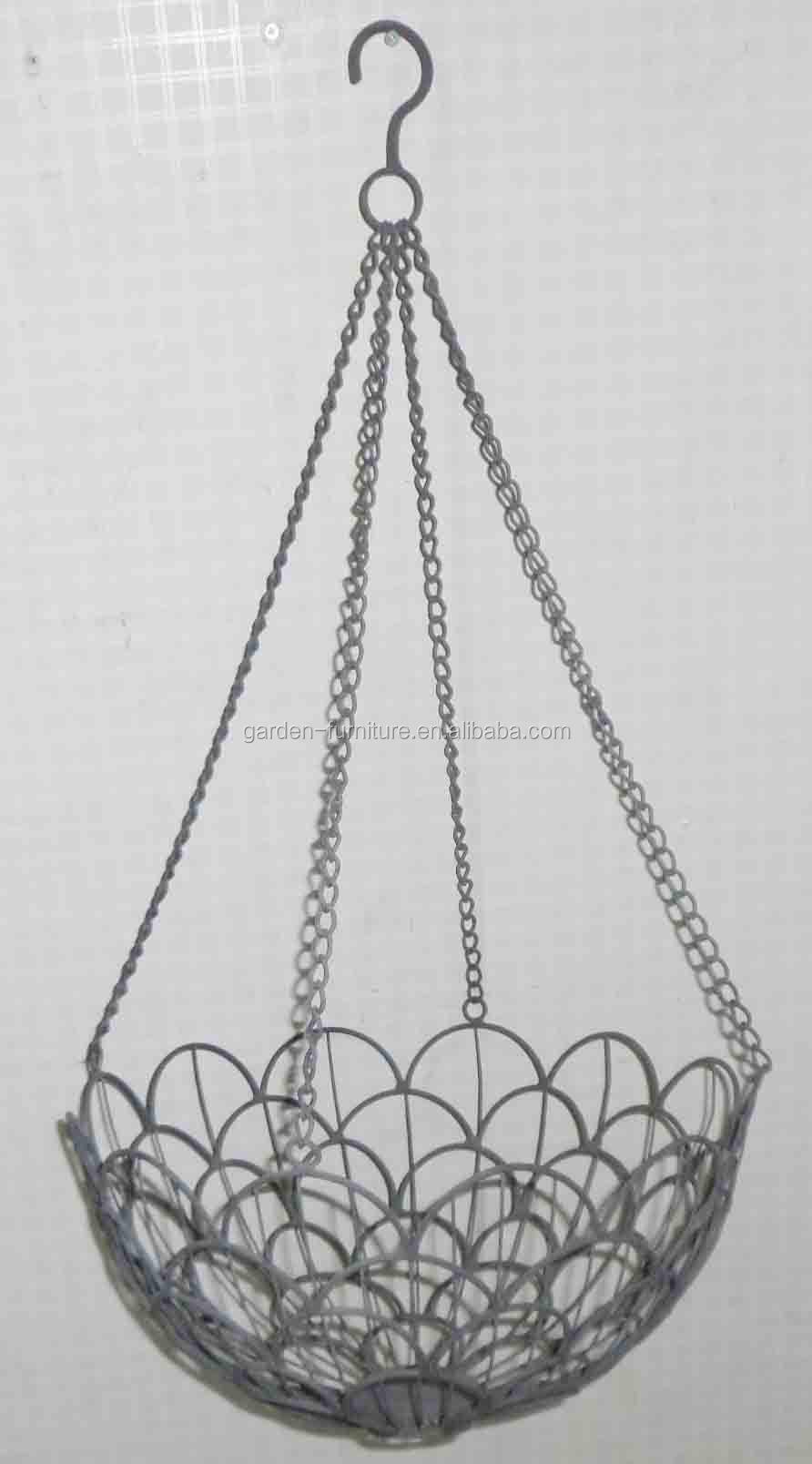 Wholesale Garden Accessory Decorative Metal Hanging Basket