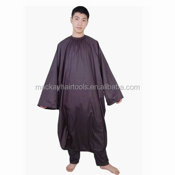 custom barber polyester material hair cutting cape with sleeve