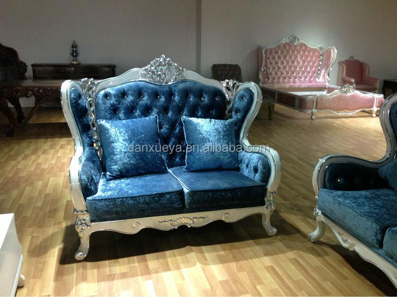 Royal Blue Sofa/classical French Antique Sofa/blue Classic Sofa