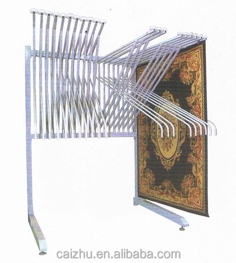 Metal Hanging Carpet Display Rack Showroom Rug Stand Turning Page Simple