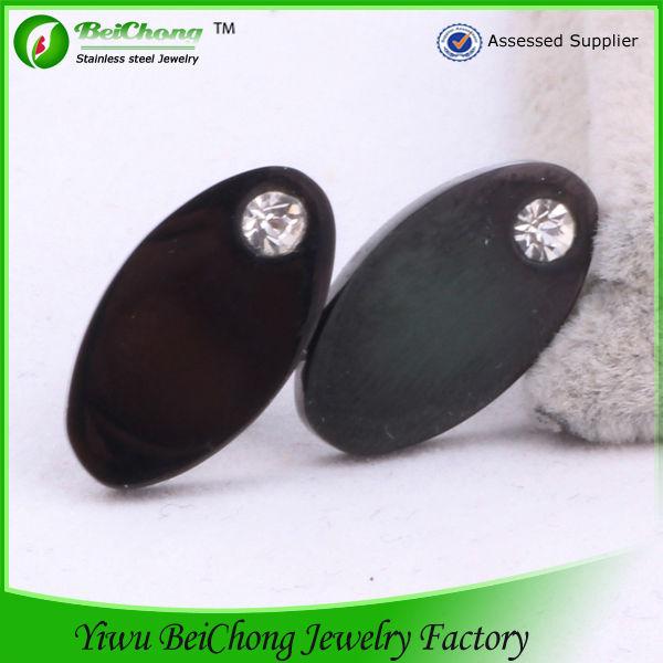Black Fake Diamond Stud Earring Mens Fashion Tanishq Earrings