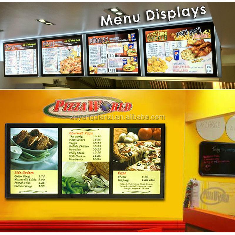 Fast Food Back Wall Menu