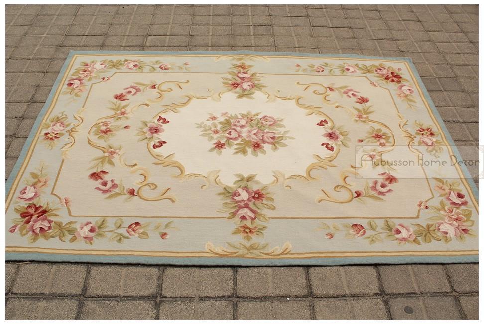 frei schiff 4x6 aubusson teppich blau w chic rosa rosen feinen flachgewebe 1000 neue in. Black Bedroom Furniture Sets. Home Design Ideas