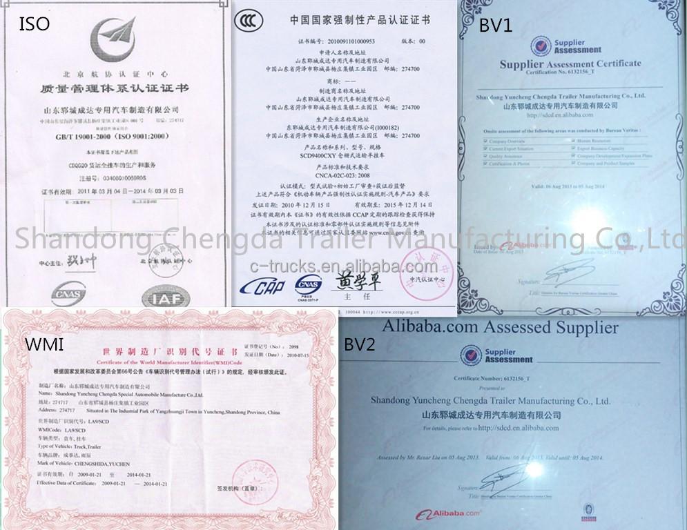 Certification(ISO,BV,CCC,WMI)