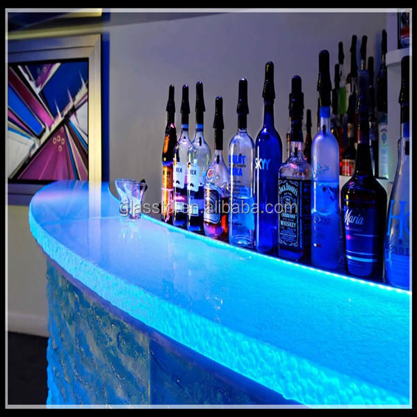 Luxury Led-lit Glass Countertops,Acrylic Bar Counter - Buy ...