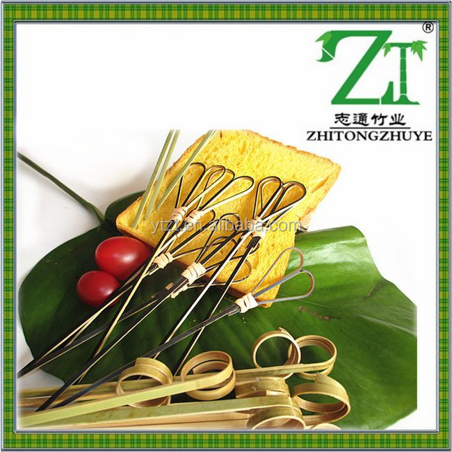 20cm long barbecue grill needle shish kebob skewers w/ wood handle