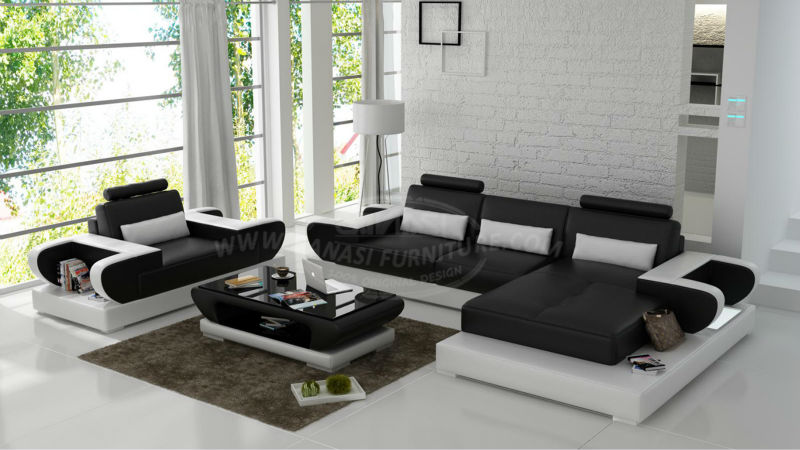 GANASI Divano A U,meuble De Salon,leather For Sofa