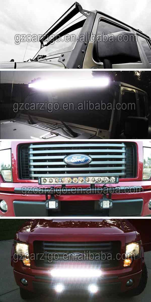 Czg 240w 40 inch atv led straight light bar single row 10w offroad light bar application aloadofball Images
