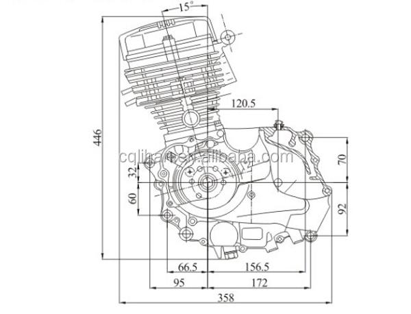 Single Cylinder Kick Start Air Cooled 150cc Zongshen Cg150 Engine