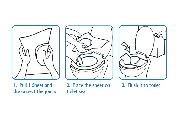 Travel Pack Disposable Paper Toilet Seat Covers