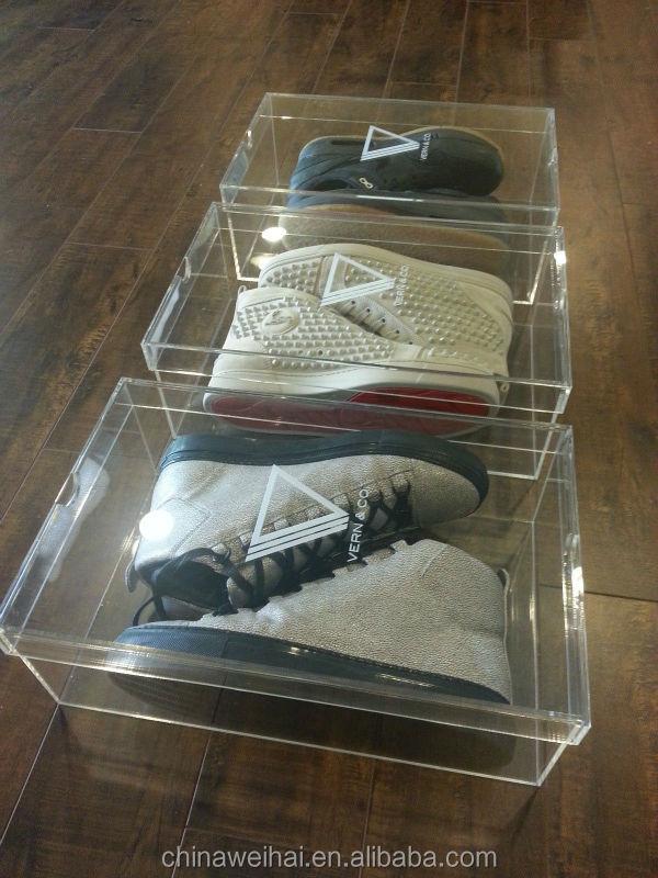 Acrylic Shoe Boxes : Clear acrylic shoe box buy product on