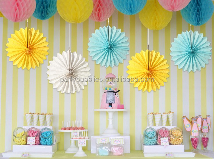 Handmade Decorations Tissue Paper Snowflake Fan View paper