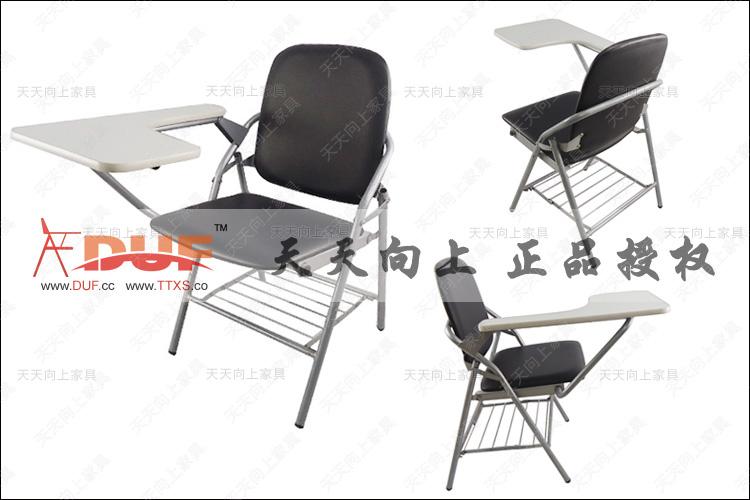 School Teacheru0027s Desk And Chair PU Padded Sponge Cushion Student Chair  Wooden Writing Tablet Folding Adult