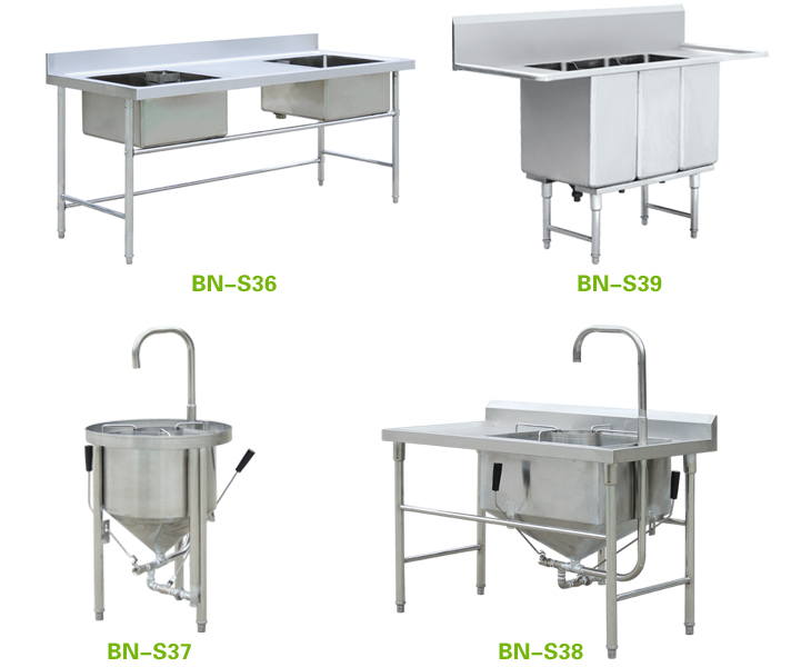 Captivating Restaurant Stainless Steel Sink/European Kitchen Sink/Stainless Steel Sink  With Backsplash