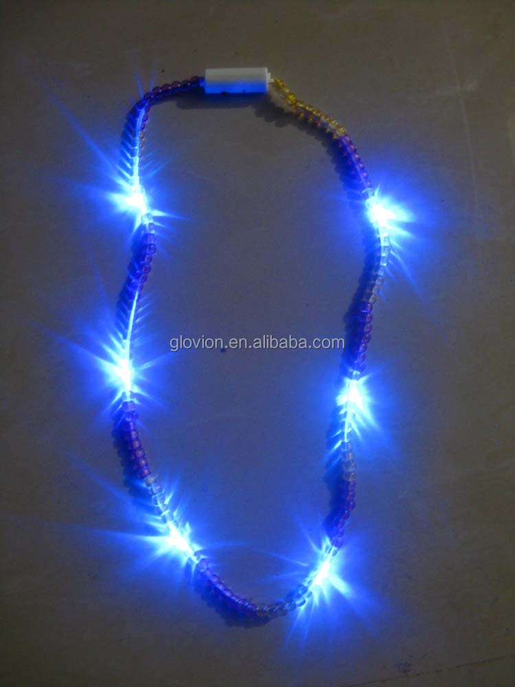 Led Light Up Beads Plastic Necklaces Flashing Led Bead