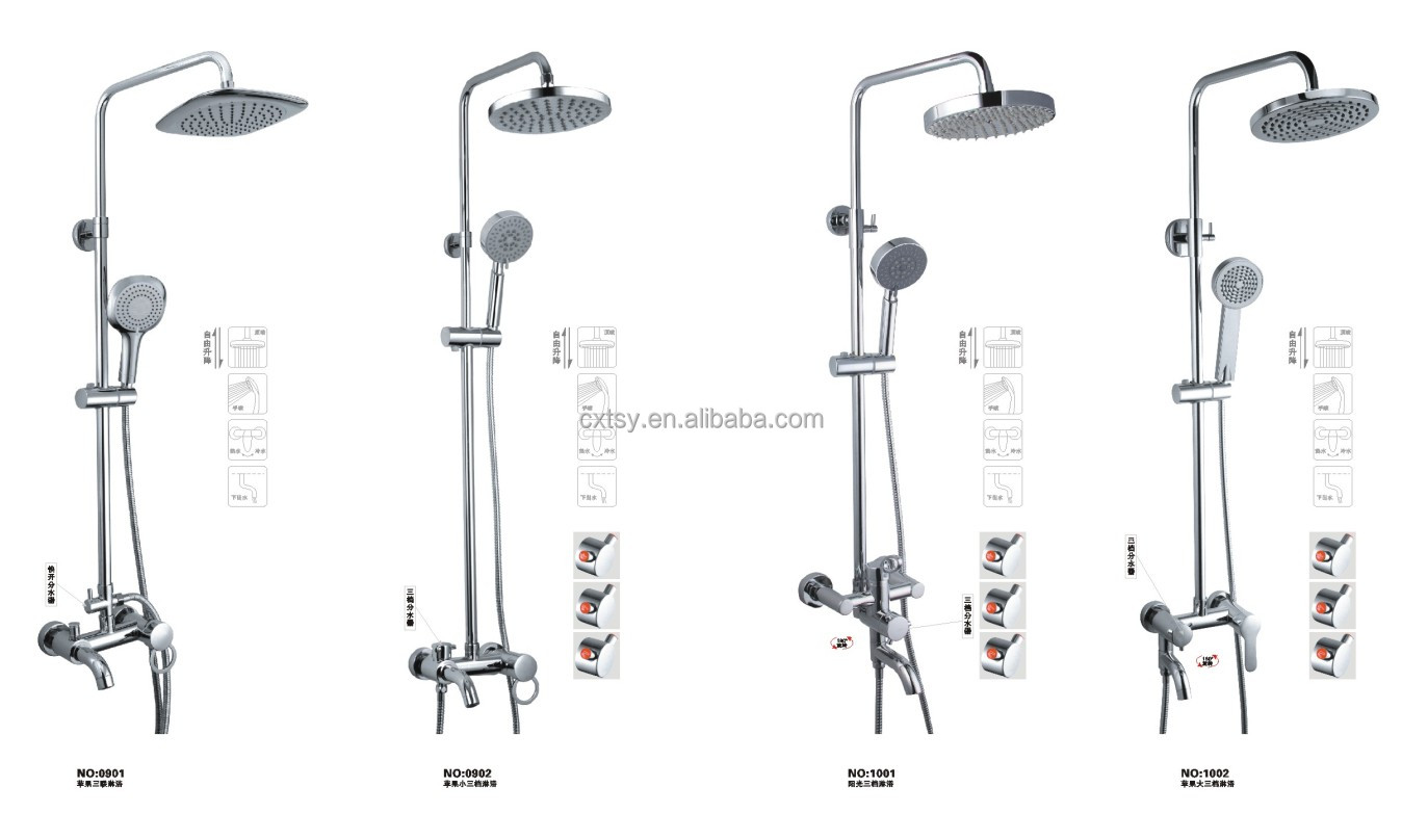 Chromed Plated Abs Shower Head Sets With Hose - Buy Shower Set ...