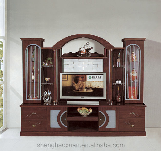 2014 chinese living room furniture wall panel with lcd unit 801