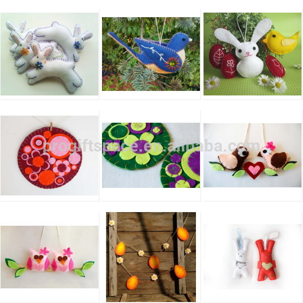 2018 New Design Hot China Handmade Fabric Crafts Kids Room Gifts Home Decor Diy Lovely Heart Felt Cartoon Animals Wall Stickers Buy Cartoon Animals