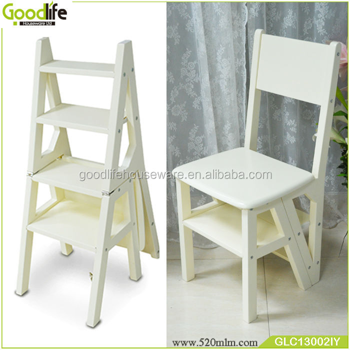 Perfect Home Furniture Wooden Transformable Ladder Chair Wholesale