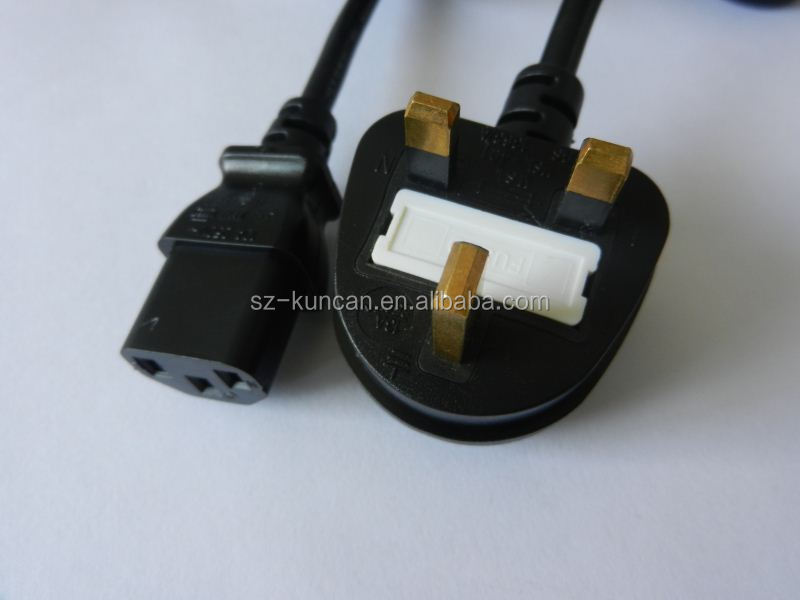 Ac Power Cord British Standard Power Cable 13a U.k. Extension Cord ...
