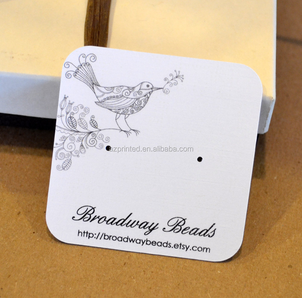 Custom Simple Design Paper Jewelry Hang Tags