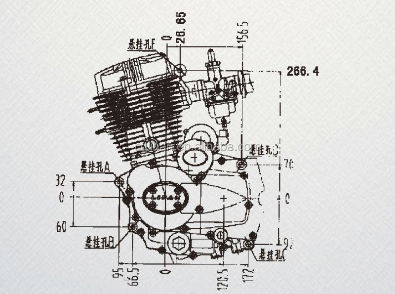 LIFAN CG250 250cc air cooled three wheel motorcycle engine with manual  clutch, View three wheel motorcycle engine, Lifan Product Details from