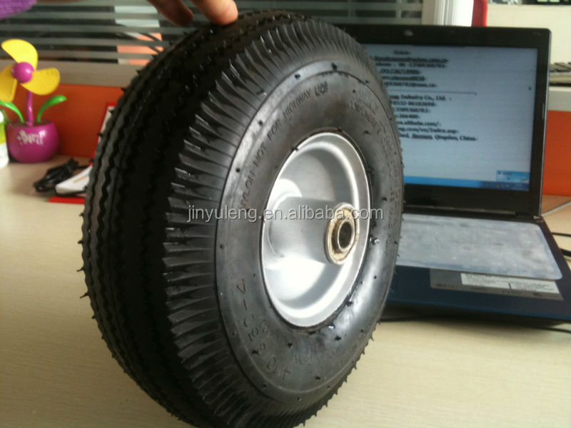 10 inch rubbr wheel 3.50-4 Used for Golf car Lawn car hand trucks beach trolleys, jockey wheels, light materials handling equ