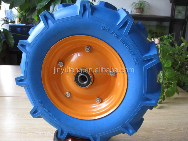 agricultural Herringbone pattern 16 inches 4.00-8 pu solid rubber foam wheel for wheelbarrow ,Farm machinery,parts,accessories