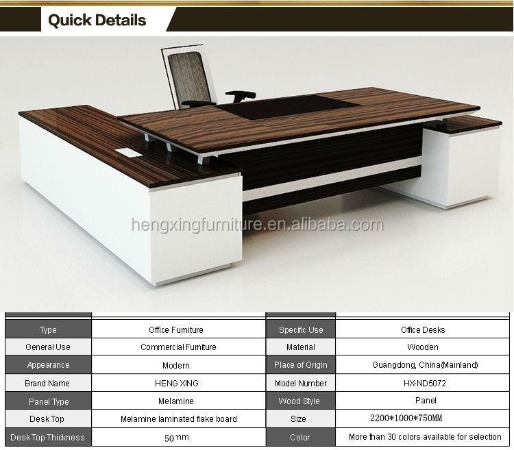 Hohe qualität chef büromöbel lieferanten hx-nd010-Holztisch-Produkt ...